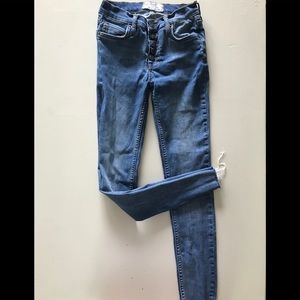 Free People high rise button jeans!